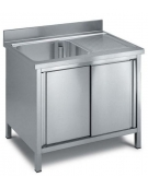 Lavello 1 vasca + gocciolatoio Dimensioni cm.120x60x90h