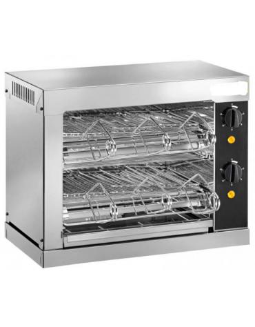 Tostiera in acciaio inox AISI 304 - 6 pinze - 2000 w - mm 440x240x250h