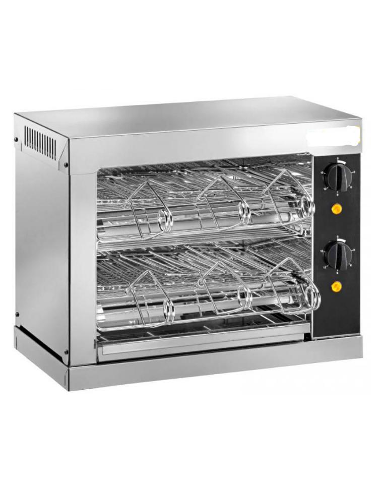 Tostiera in acciaio inox aisi 304 6 pinze 2000 w mm for Peso lamiera acciaio inox aisi 304
