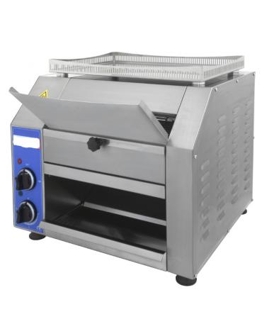Tostiera in acciaio inox AISI 304 a ciclo continuo - 2500 w - mm 48x48x43h