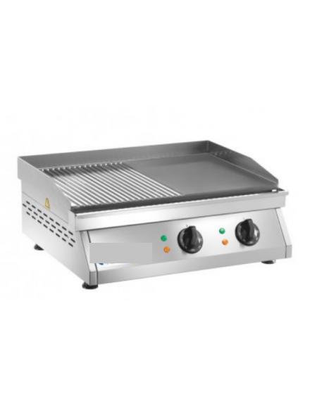 Fry top elettrico da banco in acciaio inox piastra 1 2 liscia piastra 1 2 rigata potenza - Piastra in acciaio inox per cucinare ...