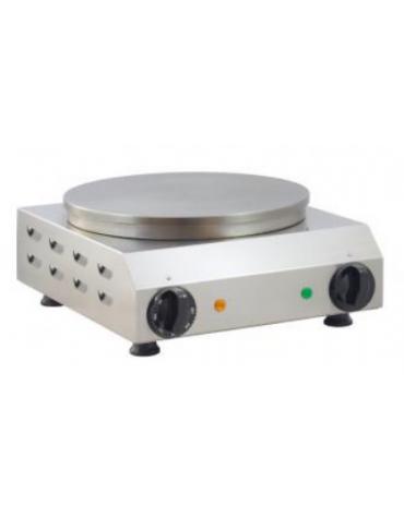 Crepiera elettrica singola in acciaio inox - 2400 W - ⌀ 350 mm - mm L 370x450x180h