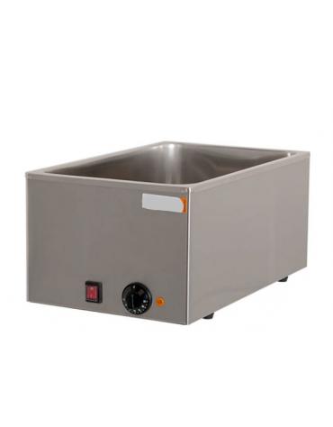 Bagnomaria elettrico da banco in acciaio inox - vasca G/N 1/1 - mm L 340x540x250h