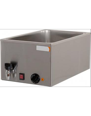 Bagnomaria elettrico da banco in acciaio inox  con rubinetto - vasca G/N 1/1 - mm L 340x540x250h