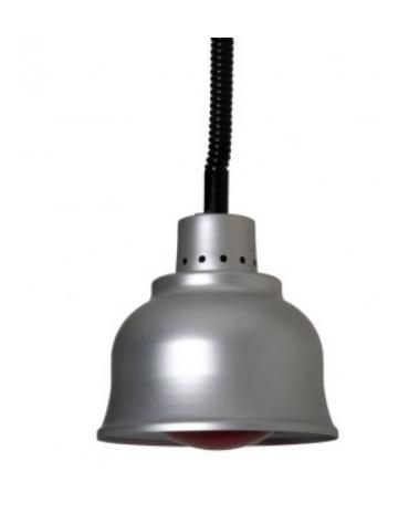 Lampada riscaldante in alluminio, potenza 250 W - diametro 225 mm con luce rossa