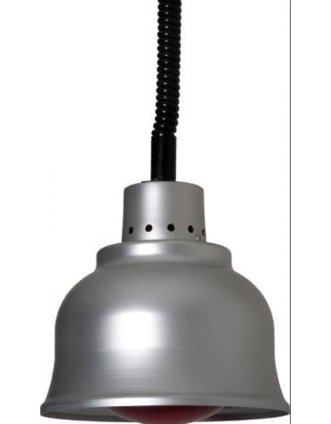 Lampada riscaldante in alluminio, potenza 250 W - diametro 225 mm con luce bianca