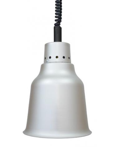 Lampada riscaldante in allumino -  potenza 250 W - diametro 190 mm con luce rossa