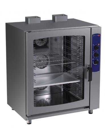Forno a convezione a gas in acciaio inox gastronomia/pasticecria - 10 teglie - cm 92x75x113,5h