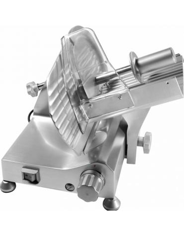 Affettatrice a gravità con affilatoio fisso, struttura in lega di alluminio - mm 360x520x315h