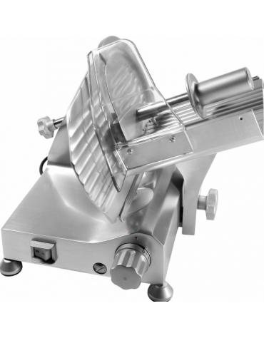Affettatrice a gravità con affilatoio fisso, struttura in lega di alluminio - mm 360x520x31,5h