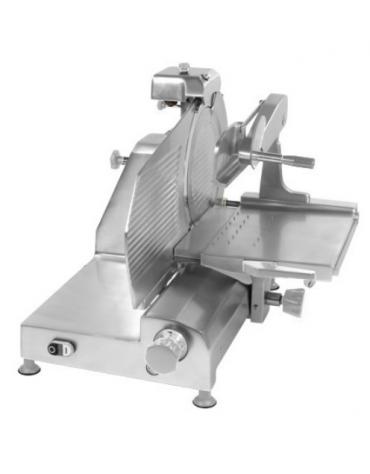 Affettatrice verticale con struttura in lega di alluminio con fusione in conchiglia - mm 650x820x640h