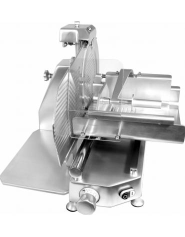 Affettatrice verticale con struttura in lega di alluminio con fusione in conchiglia - mm 550x710x550h