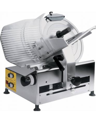 Affettatrice automatica con basamento in acciaio inox AISI304 ad affilatoio fisso - mm 570x710x630h