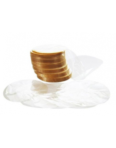 Dischi di cellophane per pressa hamburger, diametro 130 mm - 1 Kg.