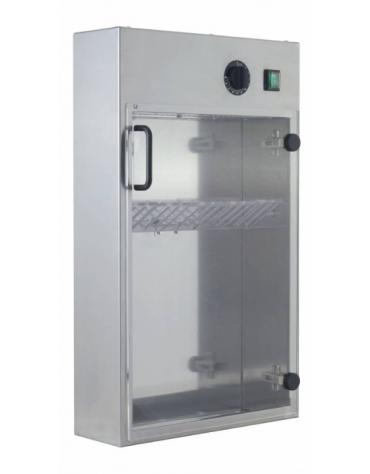 Sterilizzatore in acciaio INOX per 14 coltelli a raggi UV - mm 400x130x670h