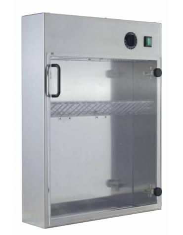 Sterilizzatore in acciaio inox per 20 coltelli a raggi UV - mm 510x130x670h