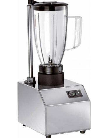 Frullatore in acciaio INOX, con 1 bicchiere in policarbonato di capacità 1,5 litri - mm 175x230x460h