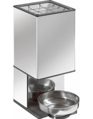 Rompighiaccio in acciaio INOX per la produzione a servizio continuo di pezzi di ghiaccio - mm 220x220x520h