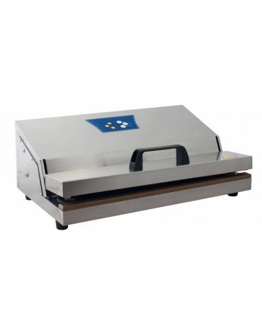 Macchina sottovuoto a barra saldante con comandi analogici digitali - potenza: 450 W - mm 490x285x180h