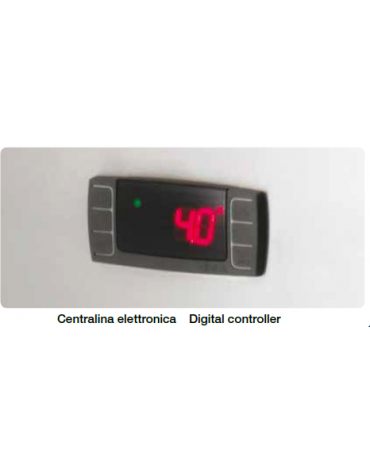 Armadio Refrigerato Ventilato in acciaio inox - capacità 650 LT - temperatura -2+8 - mm 624x700x1400h
