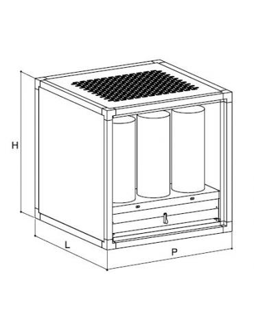 Centrale di deodorazione e filtrazione fino a 3.000 mc/h