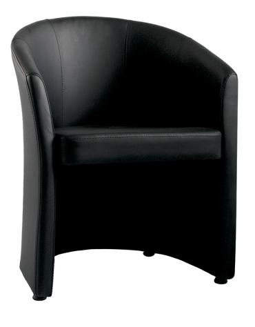 Poltrona attesa con telaio tubolare con sedile in multistrato cm 68x67x79h