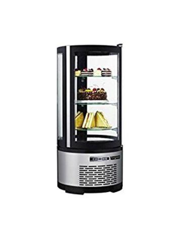 Espositore refrigerato per pasticceria - 3 ripiani - 100 litri -  temp. da + 2° C/ + 8° C - 480x480x1030h