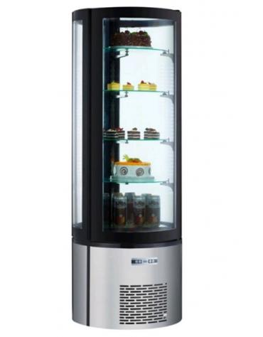 Espositore refrigerato per pasticceria - 4 ripiani - 400 litri - temp. da + 2° C/ + 8° C - mm 695x695x1750h