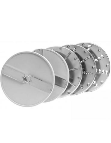 Tagliaverdura elettrico monofase con kit 5 dischi - potenza 550 W - velocità 270 rpm - L 230 mm x 570 mm x H 510 mm