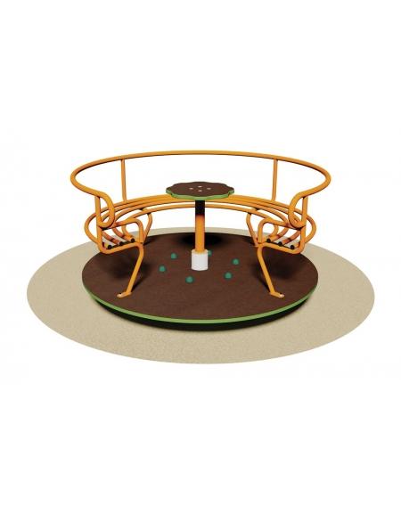 Giostra con divanetto e pianale in legno per 6 bambini for Divanetto in legno per esterno