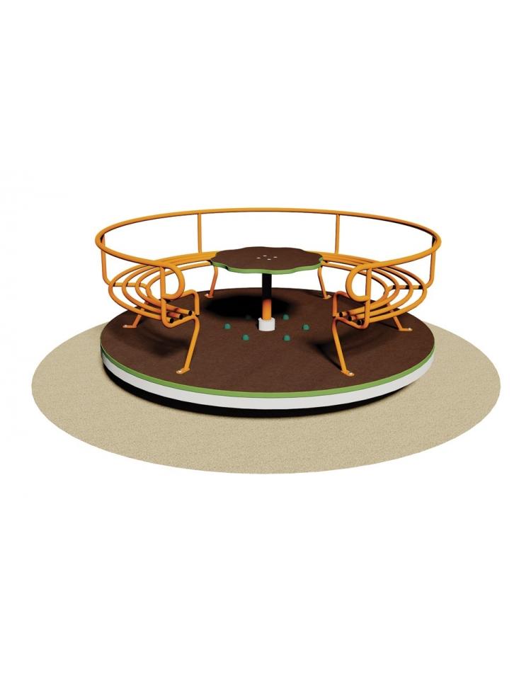 Giostra con divanetto giostre per bambini da giardino da for Divanetto in legno per esterno