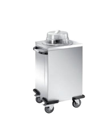 Distributore piatti neutro - 1 colonna regolabile - portata 50/60 piatti ø 28/32 - cm 56x53x106h