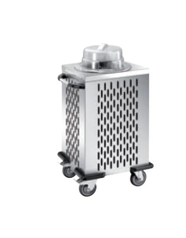 Distributore piatti refrigerabile - 1 colonna fissa - portata 50/60 piatti ø 16/21 - cm 51x48x106h