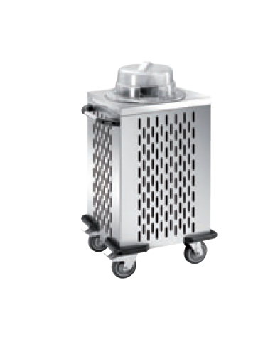 Distributore piatti refrigerabile - 1 colonna regolabile - portata 50/60 piatti ø 28/32 - cm 56x53x106h