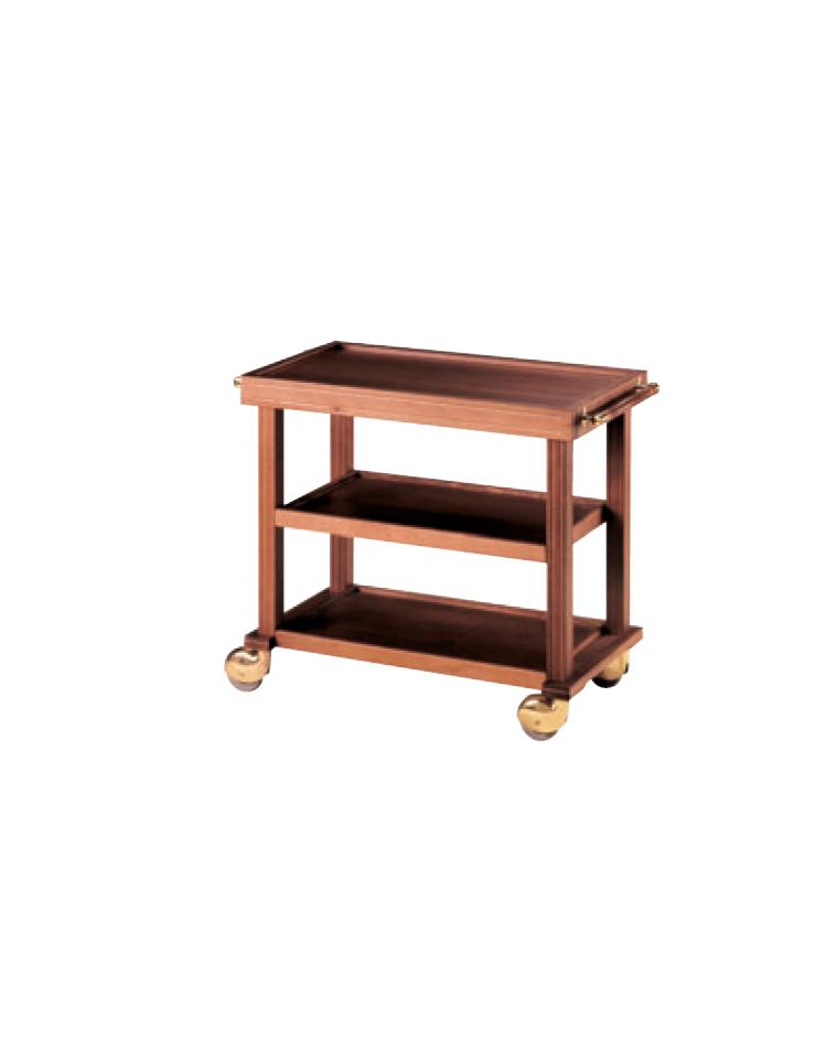 Carrello di servizio in legno massello 2 piani cm 90x50 for 3 piani di veranda stagionale