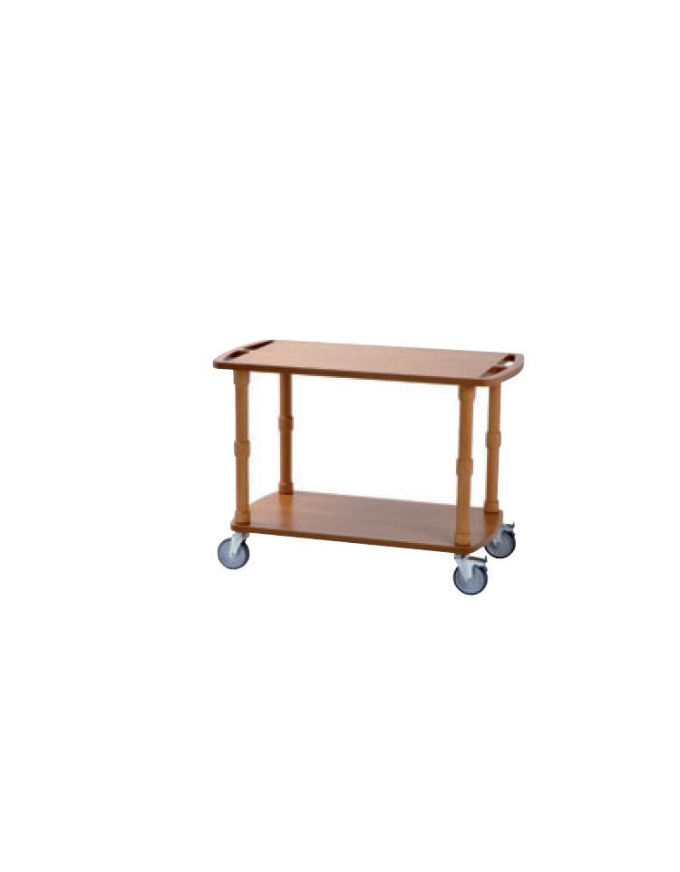 Carrello di servizio in legno massello 2 piani cm 90x50 for 2500 piani quadrati di 2 piani