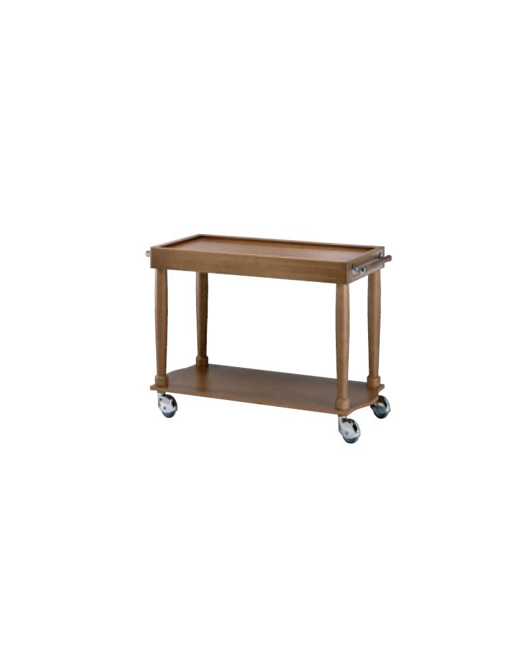 Carrello di servizio in legno massello 2 piani cm 100x50 for 2500 piani quadrati di 2 piani