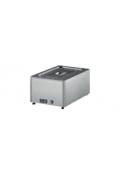 Tavola calda bagnomaria in acciaio inox 18/10 AISI 304 con rubinetto di scarico - 1 GN 1/1 h 150 mm - mm 590x430x300h