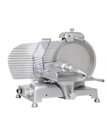 Affettatrice verticale in lega di alluminio anodizzato per salumi - affilatoio fisso - lama Ø 250 mm - mm 476x535x430h