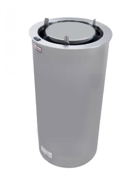 Scalda-piatti in acciaio inox  - 2 ante - capacità: 40 PIATTI - Ø 300 mm - mm 450x450x850 h