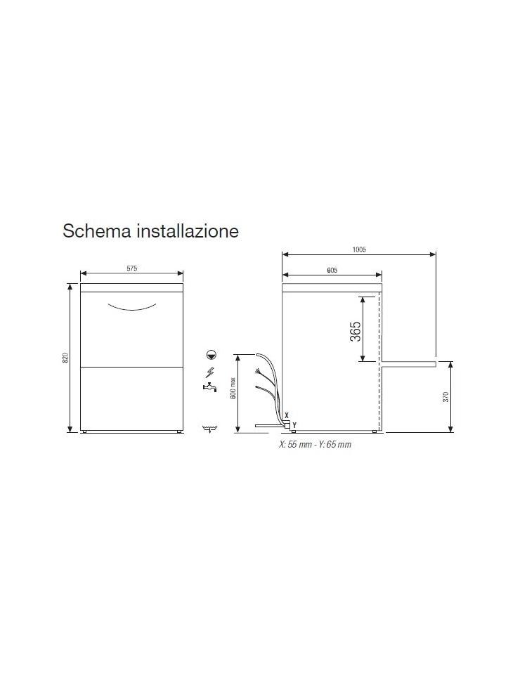 Lavastoviglie professionale sottopiano diametro piatto cm - Lavatrici piccole dimensioni 33 cm ...
