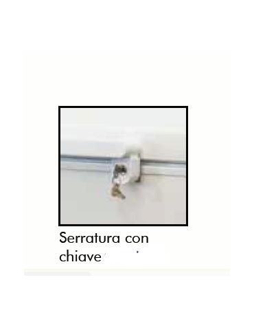 Frigorifero a pozzetto per bevande in lamiera d'acciaio colore bianco - 278 Lt - temp. +2°+8°C - mm 1096x695x860h