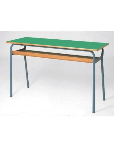 Banco biposto senza poggiapiedi - sottopiano legno multistrato CM 120X50