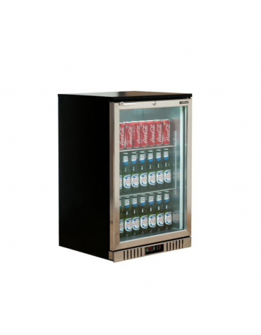 Frigo retrobanco statico con agitatore diaria per bevande - 136 Lt - temperatura 0°C/+10°C - mm 600x530x896h