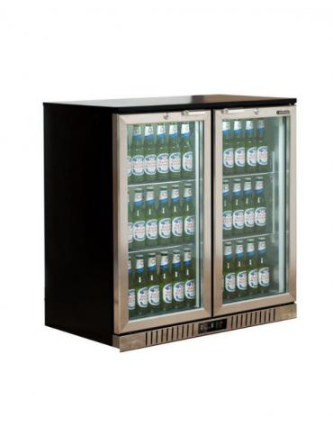 Frigo retrobanco statico con agitatore diaria per bevande - 222 Lt - temperatura 0°C/+10°C - mm 900x530x896h