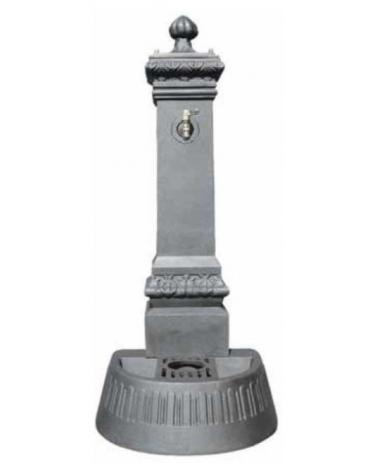 Fontana in ghisa con rubinetto cm. 46x51x124h