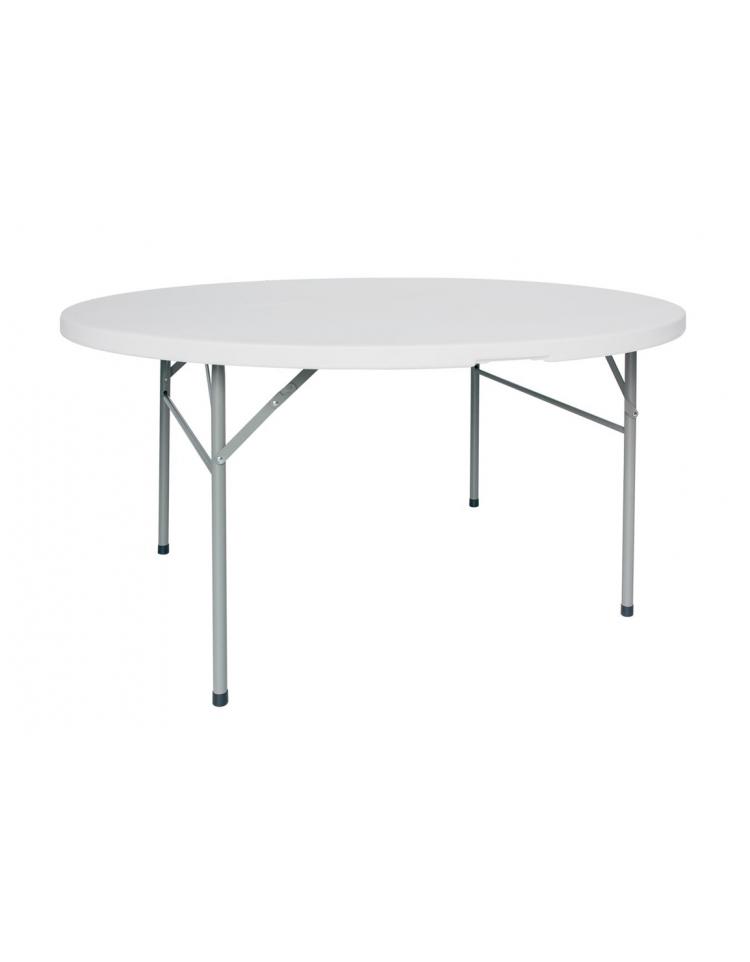Tavolo rotondo pieghevole in legno diametro cm 152 x76h for Tavolo rotondo 160 cm