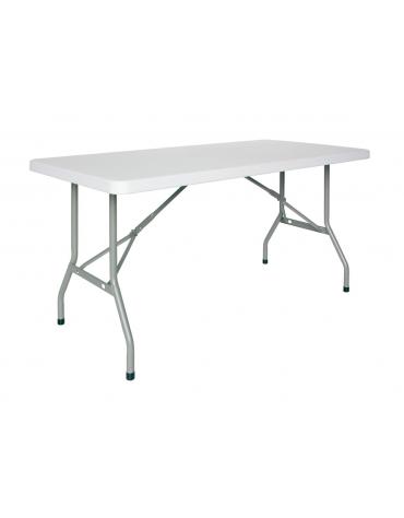 Tavolo quadrato pieghevole in polietilene cm. 90x90x74,5h