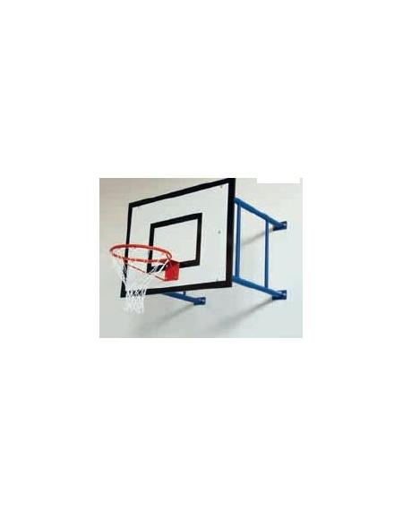 Impianto minibasket a parete sbalzo cm.185