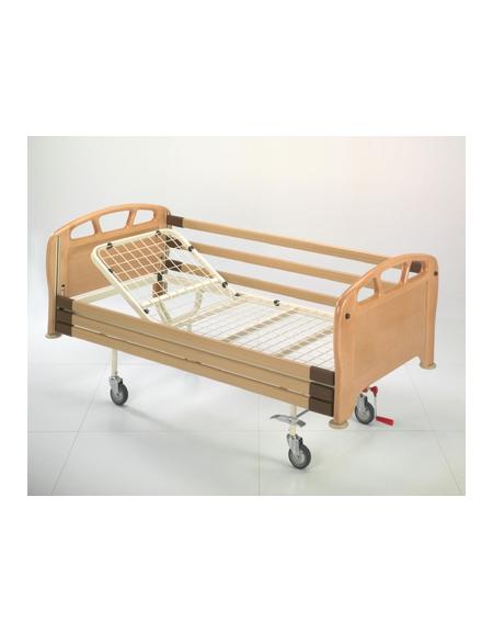 Spn letto 2 sez alzasch c manovella 4 ruote girevoli for Arredamento sanitario